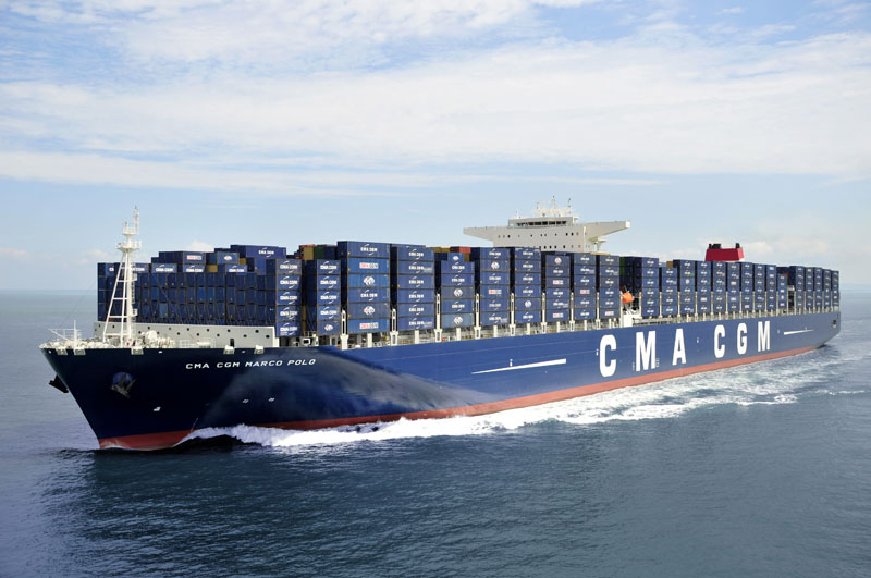 Marco Polo containerskib fra CMA CGM