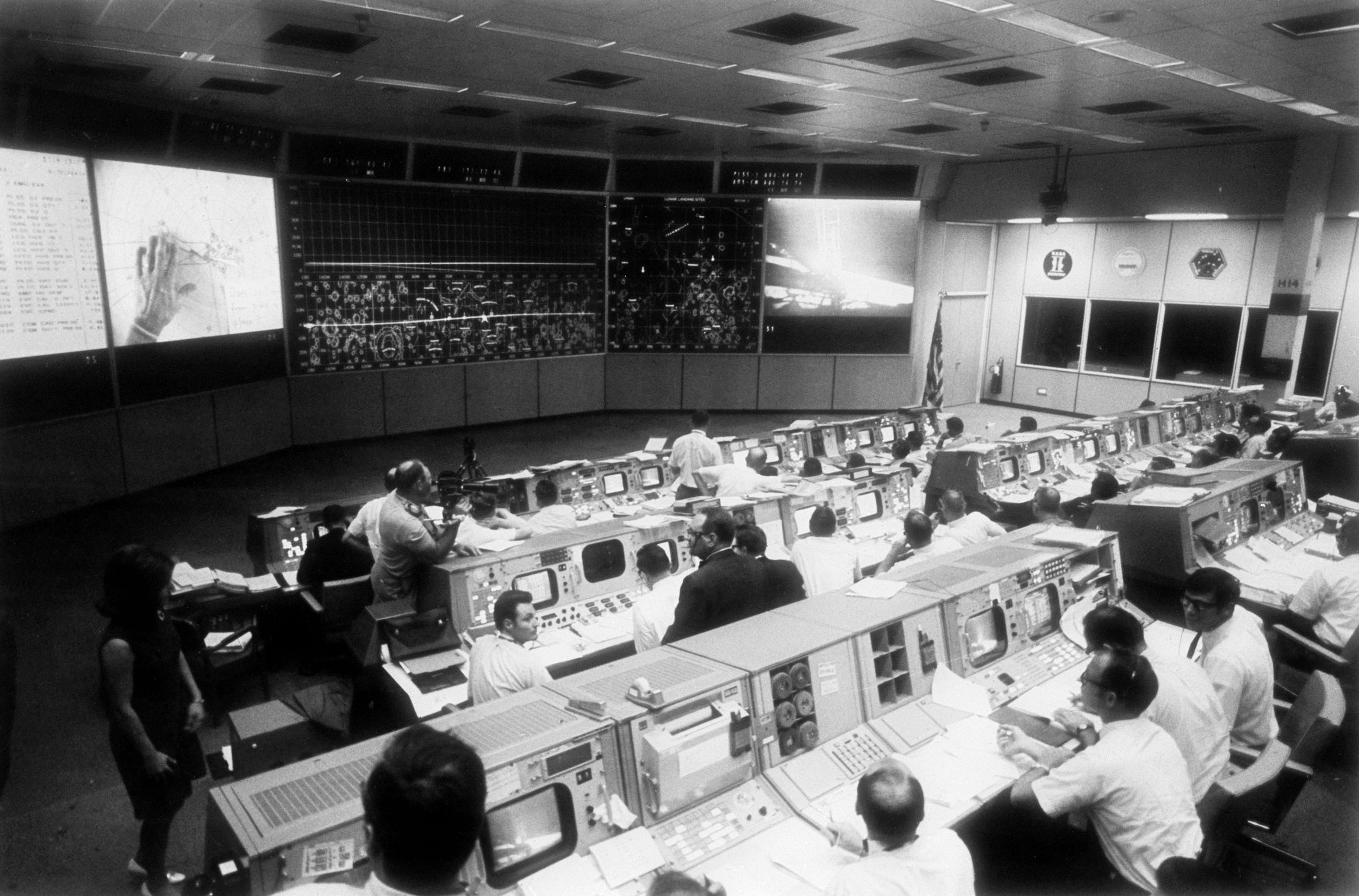 Mission Control, Nasa, månelanding, Apollo 11