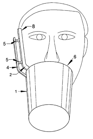 Fig. 5 fra US7062320 B2 Device for the treatment of hiccups. Gengivet fra patentdatabasen Espacenet.