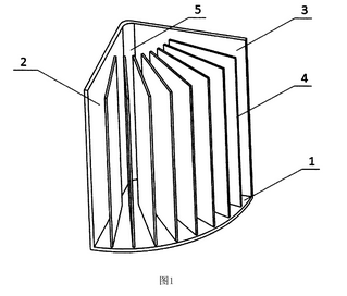 Fig. 1 fra CN106037265A New book smell removal shelf, gengivet fra patentdatabasen Espacenet.