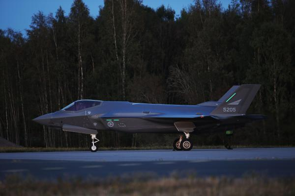 F-35A på Rygge flystation 17. september