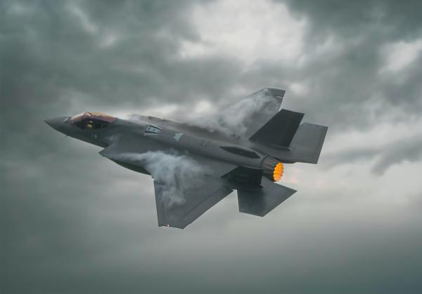 Norsk F-35A under Kjeller Airshow