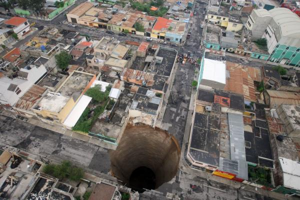 Sink hole i Guatemala City Foto: Gobierno de Guatemala / Flickr http://creativecommons.org/licenses/by-nc-sa/2.0/