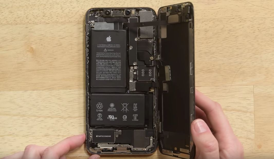 iFixit, iPhone XS batteri